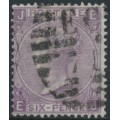 GREAT BRITAIN - 1867 6d lilac Queen Victoria (with hyphen), Spray of Rose watermark, used – SG # 104