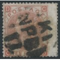 GREAT BRITAIN - 1867 10d pale red-brown Queen Victoria, Spray of Rose watermark, used – SG # 113