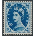 GREAT BRITAIN - 1954 10d Prussian blue QEII Wilding, Tudor Crown watermark, MH – SG # 527