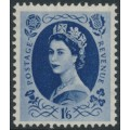 GREAT BRITAIN - 1953 1/6 grey-blue QEII Wilding, Tudor Crown watermark, MH – SG # 531