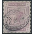 GREAT BRITAIN - 1883 2/6 lilac Queen Victoria, anchor watermark, private perfin, used – SG # 178