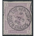 GREAT BRITAIN - 1883 2/6 lilac Queen Victoria, anchor watermark, used – SG # 178