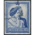 GREAT BRITAIN - 1948 £1 blue Royal Silver Wedding, used – SG # 494