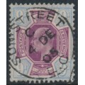 GREAT BRITAIN - 1905 9d dull purple/ultramarine KEVII definitive, used – SG # 250a