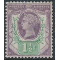GREAT BRITAIN - 1887 1½d dull purple/pale green Queen Victoria Jubilee issue, MH – SG # 198