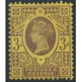 GREAT BRITAIN - 1887 3d purple/yellow Queen Victoria Jubilee issue, MH – SG # 202