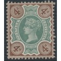 GREAT BRITAIN - 1887 4d green/deep brown QV Jubilee, MH – SG # 205a