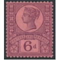 GREAT BRITAIN - 1887 6d purple/rose-red Queen Victoria Jubilee issue, MH – SG # 208