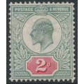GREAT BRITAIN - 1904 2d grey-green/carmine-red KEVII definitive, MH – SG # 226