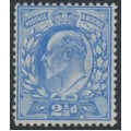 GREAT BRITAIN - 1902 2½d ultramarine King Edward VII definitive, mint hinged – SG # 230