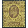 GREAT BRITAIN - 1906 3d purple/lemon KEVII definitive, MH – SG # 234