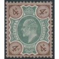 GREAT BRITAIN - 1902 4d green/grey-brown KEVII definitive, MH – SG # 235