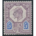 GREAT BRITAIN - 1902 5d dull purple/ultramarine KEVII definitive, MH – SG # 242