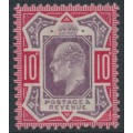 GREAT BRITAIN - 1902 10d dull purple/carmine KEVII definitive, MH – SG # 254