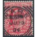 GREAT BRITAIN - 1902 1d scarlet KEVII definitive, used – has a WARE squared circle cancel