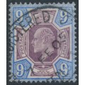 GREAT BRITAIN - 1902 9d dull purple/ultramarine King Edward VII definitive, used – SG # 250