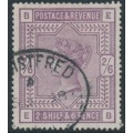 GREAT BRITAIN - 1883 2/6 deep lilac Queen Victoria, anchor watermark, used – SG # 179