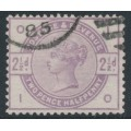 GREAT BRITAIN - 1883 2½d lilac Queen Victoria, sideways imperial crown watermark, used – SG # 190