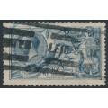 GREAT BRITAIN - 1919 10/- dull grey-blue Sea Horses (Bradbury, Wilkinson printing), used – SG # 417