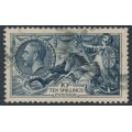 GREAT BRITAIN - 1934 10/- indigo Sea Horses (cross-hatched shading), used – SG # 452