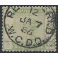 GREAT BRITAIN - 1884 6d dull green QV, large crown watermark, check letters NC CN, used – SG # 194