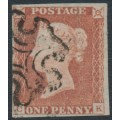 GREAT BRITAIN - 1842 1d red-brown QV, plate 26, check letters CK, used – SG # 8l