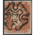 GREAT BRITAIN - 1842 1d red-brown QV, plate 26, check letters KC, used – SG # 8l
