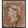 GREAT BRITAIN - 1841 1d red-brown QV, plate 22, check letters BE, used – SG # 8l