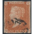 GREAT BRITAIN - 1843 1d red-brown QV, plate 33, check letters ND, used – SG # 8l