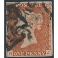 GREAT BRITAIN - 1841 1d red-brown QV, plate 19, check letters OJ, used – SG # 8l