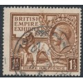 GREAT BRITAIN - 1925 1½d brown British Empire Exhibition, used – SG # 433