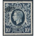 GREAT BRITAIN - 1939 10/- dark blue King George VI definitive, used – SG # 478
