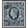 GREAT BRITAIN - 1939 10/- dark blue King George VI definitive, used – SG # 478