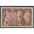 GREAT BRITAIN - 1948 £1 brown King George VI definitive, used – SG # 512