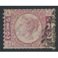 GREAT BRITAIN - 1870 ½d rose QV 'Bantam', plate 10, double perforations, used – SG # 49