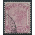 GREAT BRITAIN - 1880 2d pale rose Queen Victoria, Imperial Crown watermark, used – SG # 168