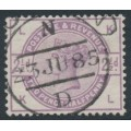 GREAT BRITAIN - 1883 2½d lilac Queen Victoria, crown watermark, check letters LK/KJ, used – SG # 190
