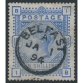 GREAT BRITAIN - 1883 10/- ultramarine Queen Victoria, anchor watermark, used – SG # 183