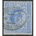GREAT BRITAIN - 1902 10/- ultramarine KEVII definitive, used – SG # 265