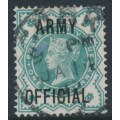 GREAT BRITAIN - 1900 ½d blue-green Queen Victoria overprinted ARMY OFFICIAL, used – SG # O42