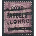 GREAT BRITAIN - 1887 6d purple/rose-red QV Jubilee overprinted GOVT PARCELS, used – SG # O66