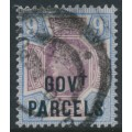 GREAT BRITAIN - 1888 9d dull purple/blue QV Jubilee overprinted GOVT PARCELS, used – SG # O67