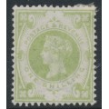 GREAT BRITAIN - 1887 1/- dull green Queen Victoria Jubilee, MNG – SG # 211