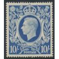 GREAT BRITAIN - 1942 10/- ultramarine King George VI definitive, MNH – SG # 478b