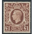 GREAT BRITAIN - 1948 £1 brown King George VI definitive, MNH – SG # 478c