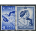 GREAT BRITAIN - 1948 Royal Silver Wedding set of 2, mint hinged – SG # 493-494