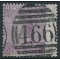 GREAT BRITAIN - 1867 6d lilac QV, plate 6, inverted spray of rose watermark, used – SG # 104Wi