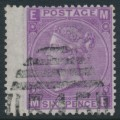 GREAT BRITAIN - 1869 6d mauve QV (without hyphen), Spray of Rose watermark, plate 9, used – SG # 109
