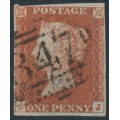 GREAT BRITAIN - 1843 1d red-brown QV, plate 37, check letters RL, used – SG # 8