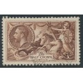 GREAT BRITAIN - 1934 2/6 chocolate-brown Sea Horses, re-engraved, used – SG # 450